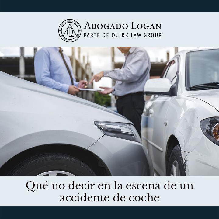 ¿Qué no decir en la escena de un accidente de tránsito?